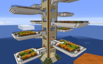 Mediterranean plant tower