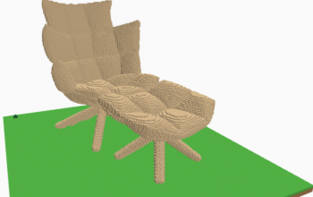 Massive lounge chair