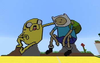 Finn and Jack Pixel Art