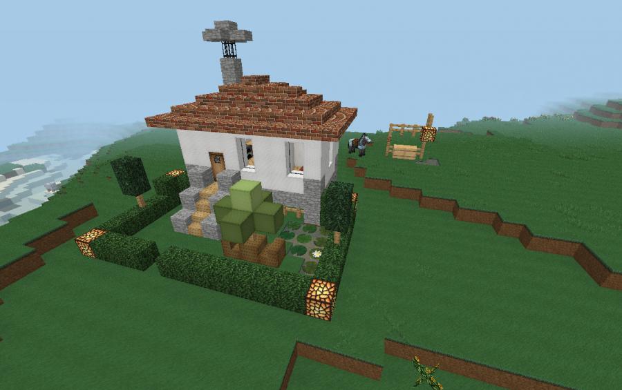 Tiny Modern House Minecraft small modern house, creation #1593