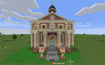 Hermitcraft 7 - Town Hall to scale