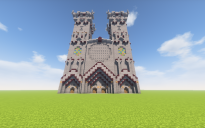 Large Medieval Gothic Cathedral