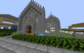 Medium Medieval Church (4 chunks, Minecraft Towny)