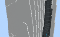 Massive 3D PS5 Structure in Minecraft