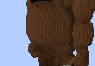 Freddy Fazbear FNAF 3D Minecraft Statue build