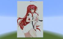 Rias Gremory pixel art