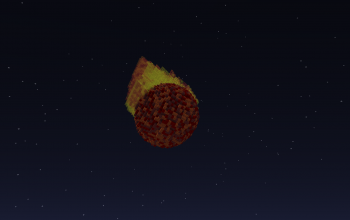 Simple meteor falling from the sky