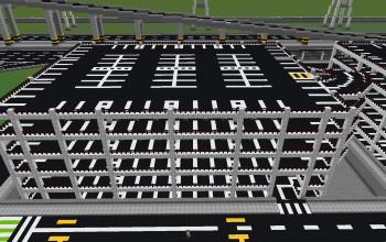 Six-story parking lot