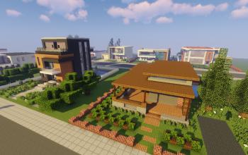 Modern Neighborhood Map + Pack #1 (10 Houses)
