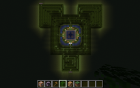 maze with central fountain
