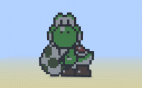 Yoshi 8-Bit Style [Looking at You with Egg]