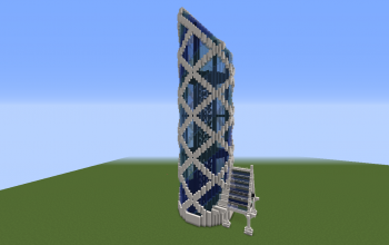 Blue Modern Tower