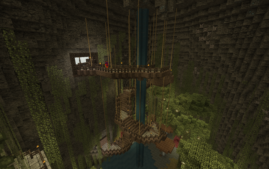 Minecraft Man Cave Ideas : Jungle cave creation