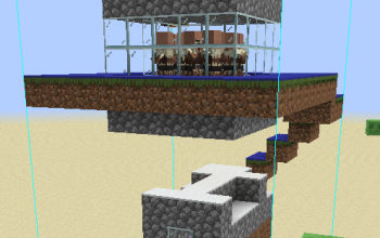 Simple Iron Farm w/ Chicken Farm