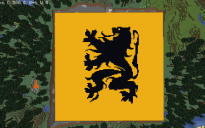 128x128 Flag of Flanders (Battle Flag variant) Map Art