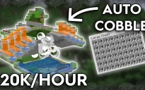 Fixed! New Updated Cobblestone Farm! Works In 1.13.X To 1.16.X!