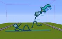 Stickman Fight Pixel Art