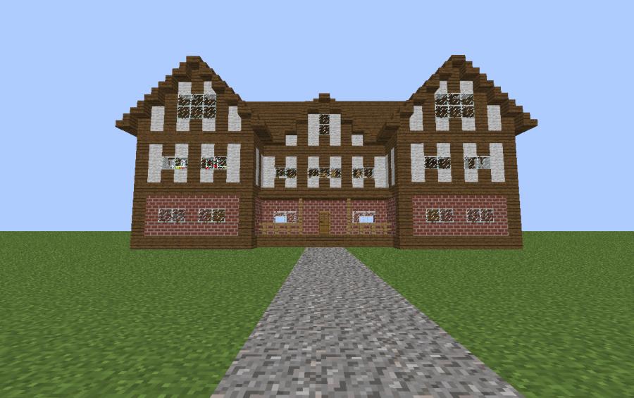 german tudor style house, creation #1653