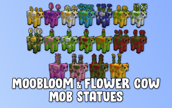 Moobloom & Flower Cow Mob Statues
