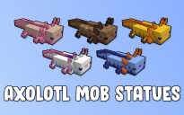 Axolotl Mob Statues