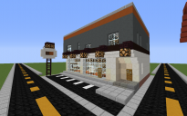 Lower-class Modern Convenience Store with Apartments