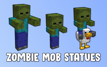 Zombie Mob Statues