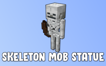 Skeleton Mob Statue