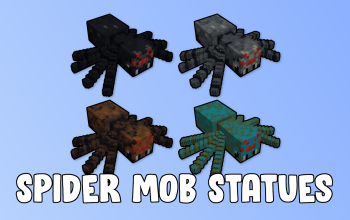 Spider Mob Statues