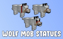Wolf Mob Statues