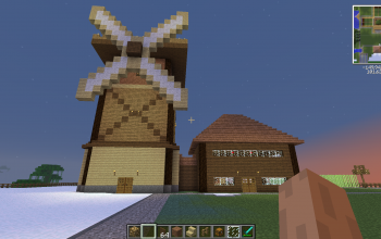 Windmill with house
