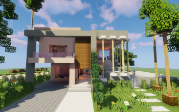 Top 5 Modern House #3 (Map + Schematic)