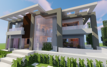 Top 5 Modern House #5 (Map + Schematic)