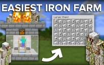 Minecraft Easiest 1 Zombie 3 Villager Iron Farm - 220 Per Hour