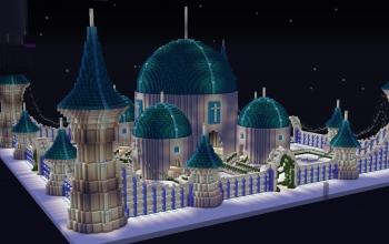 White Cyan Palace
