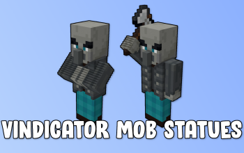 Vindicator Mob Statues