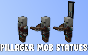 Pillager Mob Statues