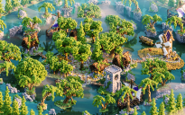 Hub - Lobby ❯ Little Town ❯ Surrounded with waterfall ❯ 300x300