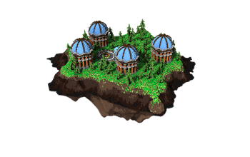 Free Skyblock Spawn Blue Domes