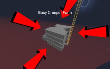 Easy Creeper Farm 4 Layers
