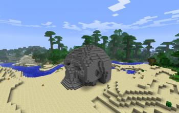 3d skull house