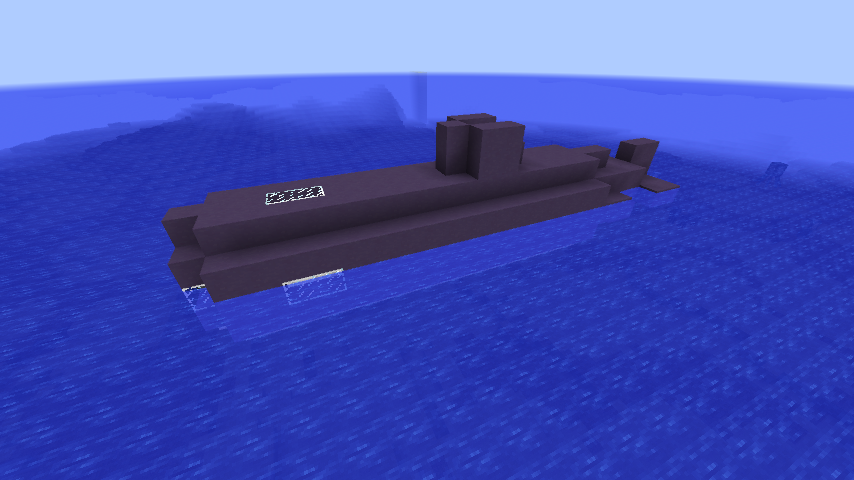 how to build a small submarine in minecraft