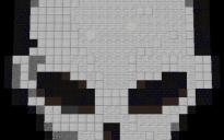 Skull pixel art