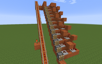 1.7 piston minecart escalator