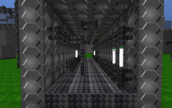 Hallway with Industrial Piping