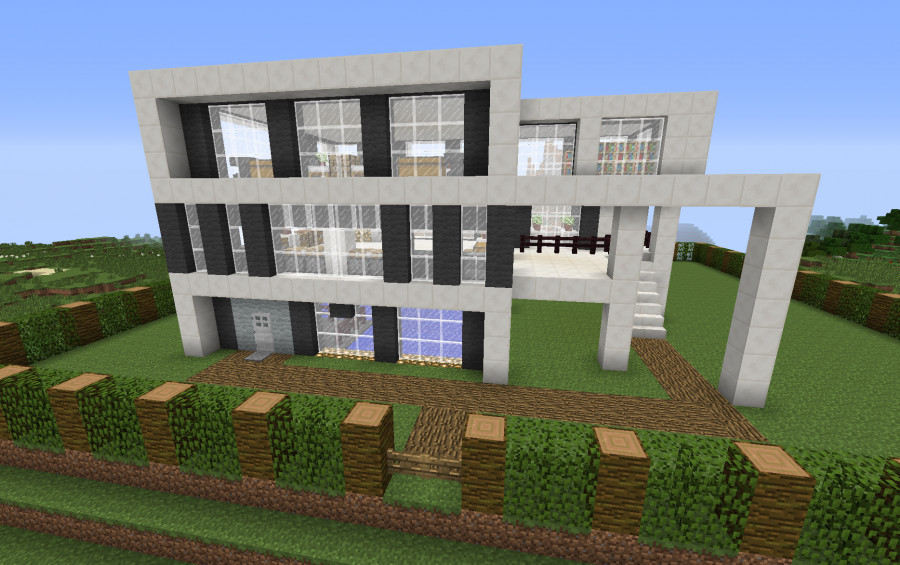 Modern house creation 2327 for Big modern houses on minecraft