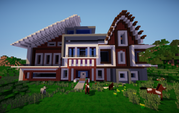 Minecraft houses and shops creations 120 for Minecraft big modern house schematic