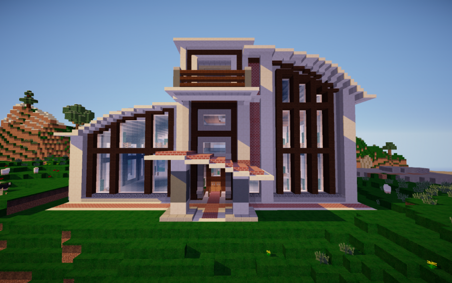 how to make a suburban house in minecraft images