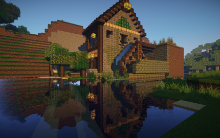 Medieval Water Mill Creation 2412