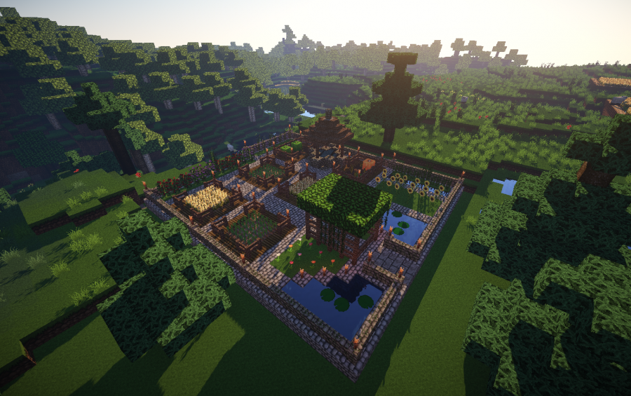 Garden Design Minecraft small medieval garden, creation #2440