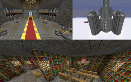 mine craft video snow castle creation 2463 2463